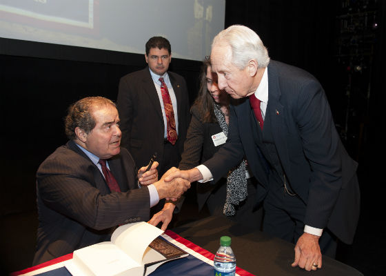 Athens lawyer meets Supreme Court Justice Antonin Scalia