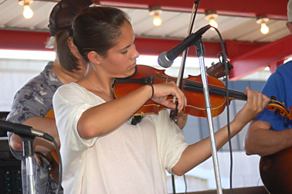 Mia Orosco was last year's winner of the Old Fiddlers' Reunion. This year's event will be held on Saturday. (MICHAEL V. HANNIGAN PHOTO)