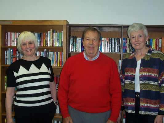 Pictured are Julie Gustafson, Margaret Ann Trail and Skip Gustafson. (COURTESY PHOTO)