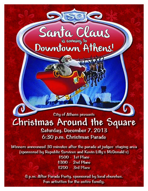 Athens Christmas Parade Flyer