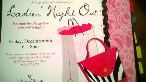 Ladies Night Out @ Lakeland House
