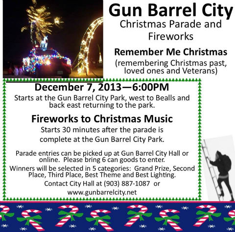 GBC Christmas Parade @ Gun Barrel City Park