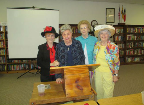 Pictured are Geneice Morris, Ruth Shelton, Helen Preston and Suzanne Fife.