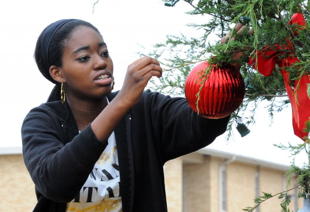 Miracle Lewis TVCC tree decorating