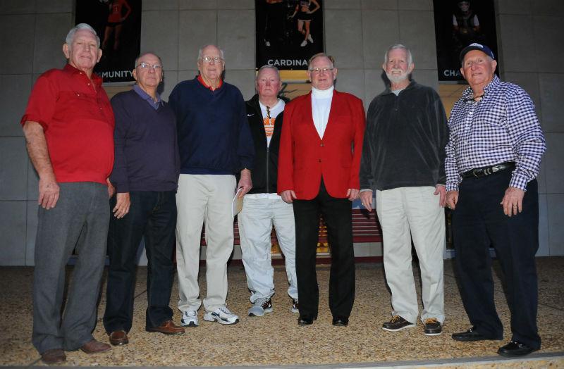 1-17-15 Alumni players visit