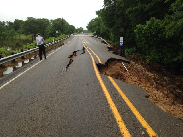 TxDOT file photo of the washout at FM 317.