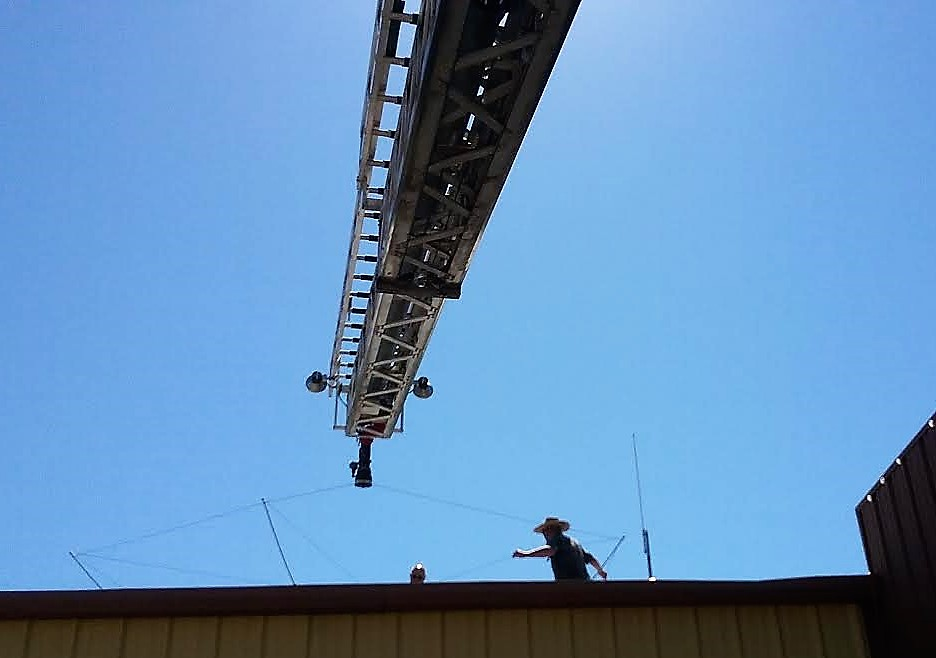 Gun Barrel City Fire Department, Radio Club install shortwave antenna